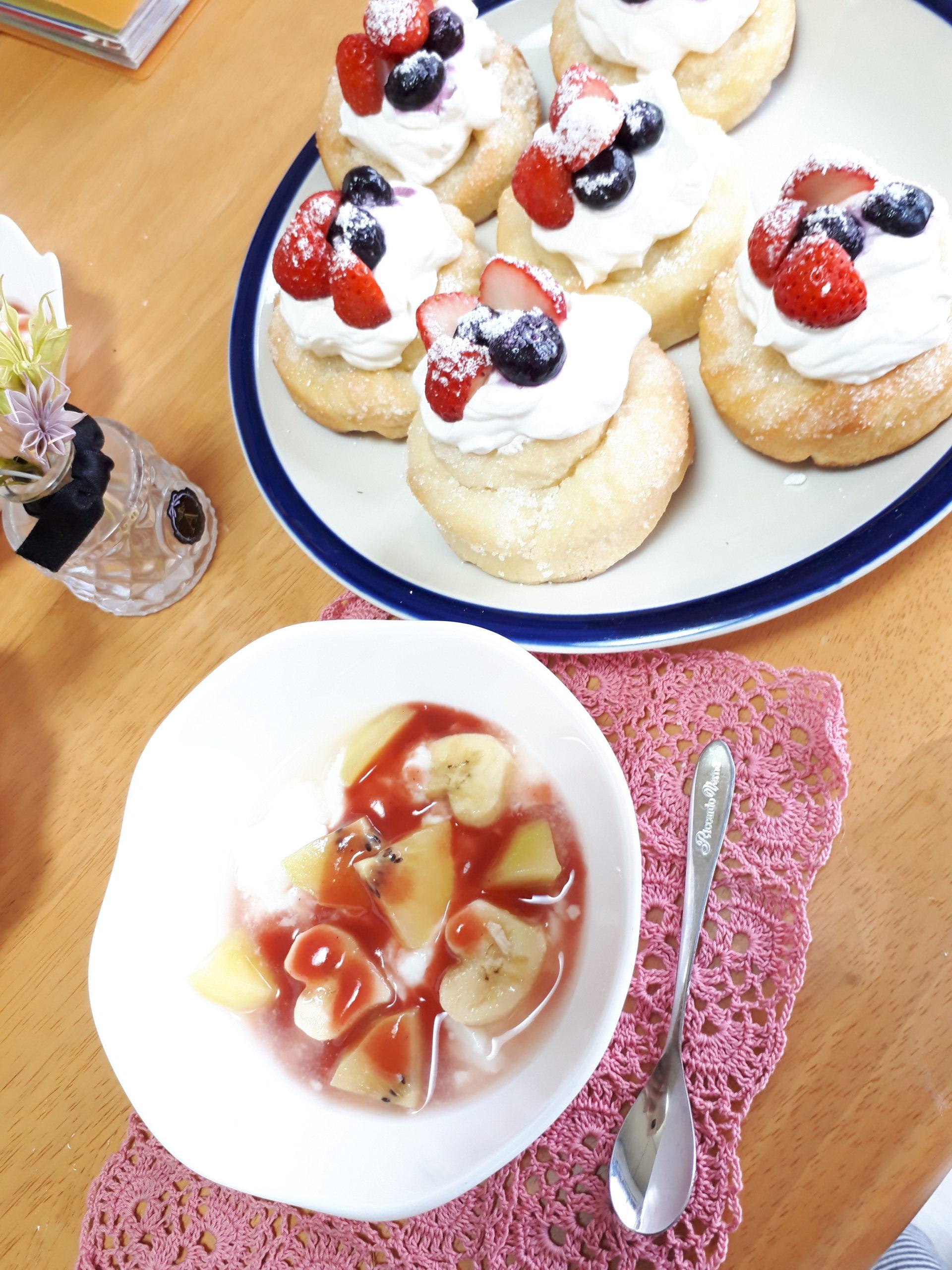フルーツヨーグルトのデニッシュパン 安田